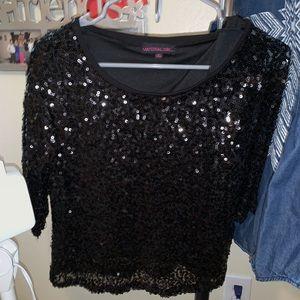 Material Girl sequin crop top